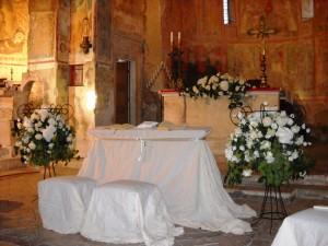 chiesa abbazia san pietro in valle per celebrazione matrimonio