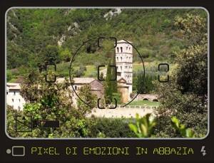 pixel di emozioni in abbazia